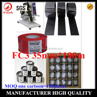 Yida 2015 new product SGS,ISO certification FC3 black 35mm*100m expiry date printer hand stamp of MOQ 100 pieces one carton