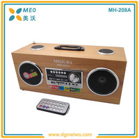 High quality cheap price wooden material mini speaker, wood usb mp3 speaker
