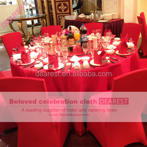 Hotel Linen Table Cloth, Wholesale round plain polyester wedding table cloth