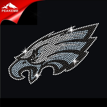 Custom hotfix eagles korean Rhinestone Heat Transfer Wholesale