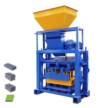 QTF40-1manual cement fly ash block bricks manufacturing process machine line different types of hollow bricks plant in pakistan