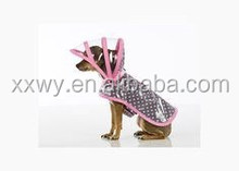 fashion dog clothes, dog raincoat, pet clothes