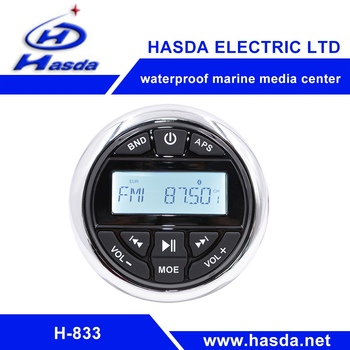 DURABLE Waterproof marine media center ith MP3,USB,Aux in,Radio,bluetooth