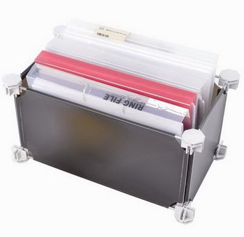 Solid corrugated clear storage packaging box with drawer