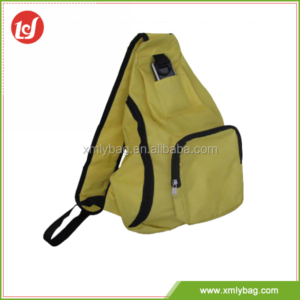 Hot selling custom light yellow canvas sport bag waterproof