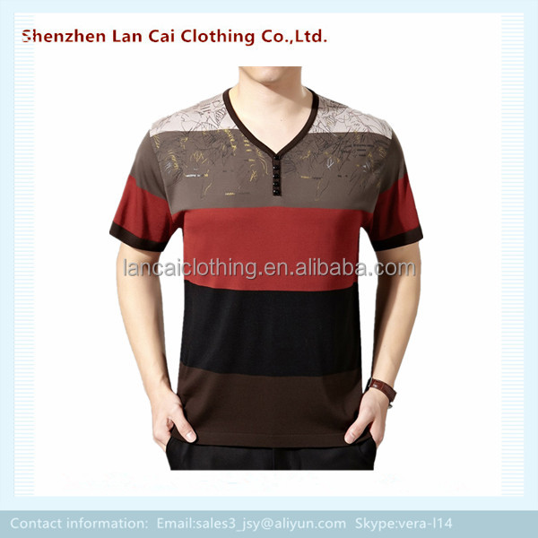 Striped Mens T Shirts 2017 New Design Tops Tee Shirt For Adults ...