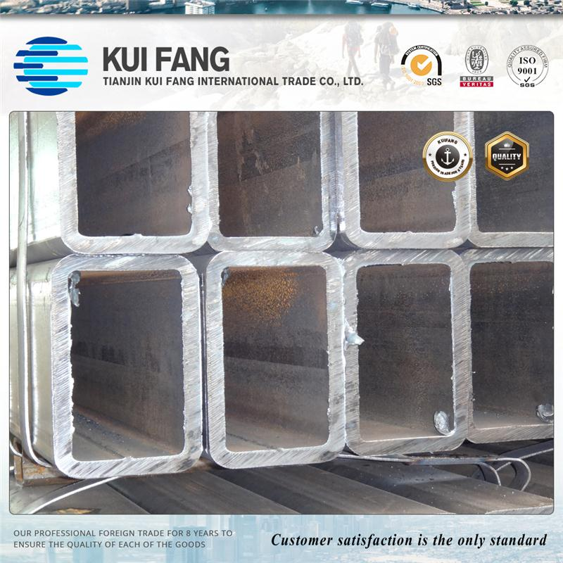 Hollow thin wall thickness pre galvanized steel square pipe