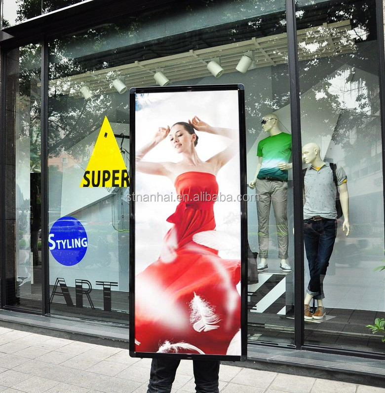 J1A-089 Top selling LED illuminated indoor billboard with lithium battery for oudoor advertising