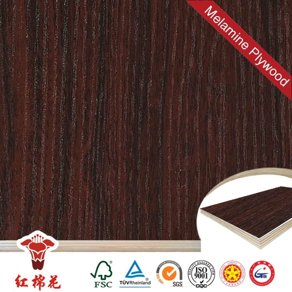 Customized 15mm black film plywood for zambia in china Red Kapok