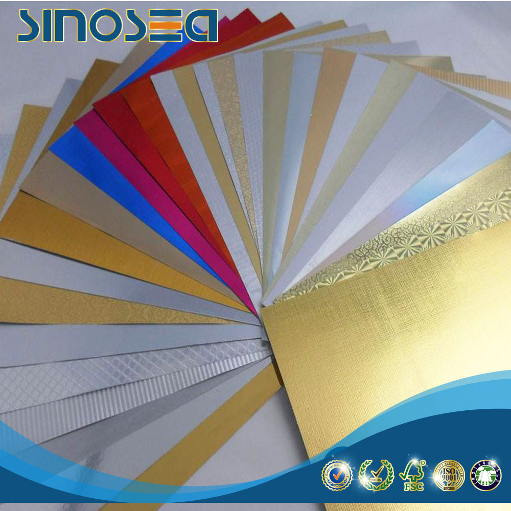 High pressure laminated laser film card in sheet for goods packing use