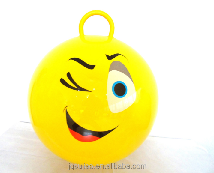 PVC kids bounce emoji jumping ball bouncy for children/smile face ball
