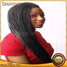 Heat Resistant Fibre Synthetic Lace Front Wig, Kinky Twist Braided Lace Wig