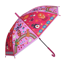 Beautiful customized picture print kids straight rain umbrella