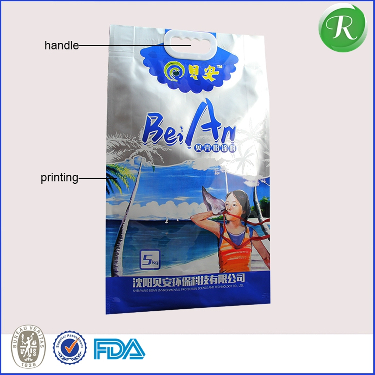 factory printed small zipper ziplock matte finished aluminum foil plastic bag