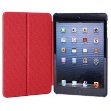 Red Slim PU leather case for ipad pro