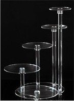 factory customed high quality acrylic wedding cake display stand cookies display stand