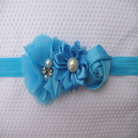 New fashion infant baby hair accessories crochet flower headbands new years hair bows