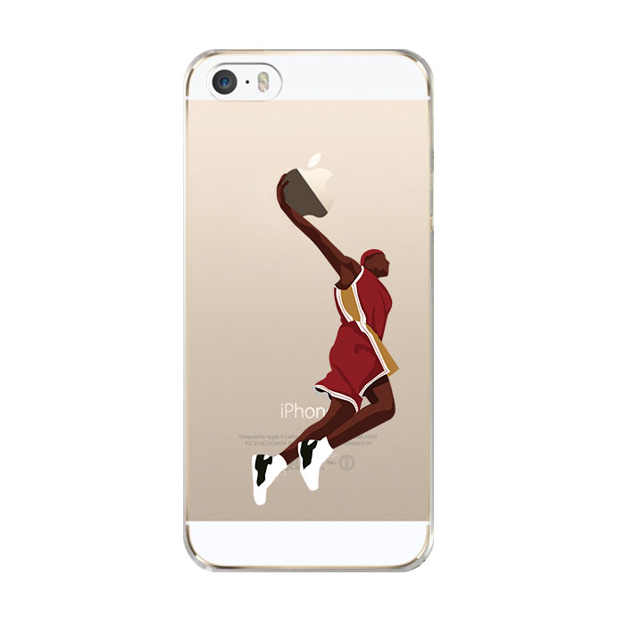 Design Mobile Cell Phone Sport NBA jordan Basketball Super Star Phone Cases Transparent Soft TPU custom case for iphone 5s