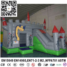 HI CE Certification inflatable slide , inflatable bouncy castle with slide,China inflatable jumping castle