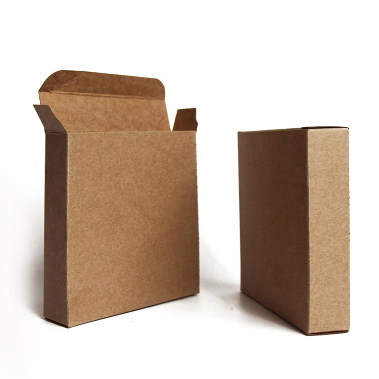 Reusable factory directly supply customized brown kraft paper mini box for crafts gifts