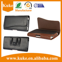 Genuine Leather Case Cover Horizontal Leather Pouch/ ID Card Slot Holster Belt Clip Case