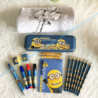 Big school minions stationery gift set
