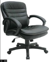 executive office chair, leather office chair, medium back office chair