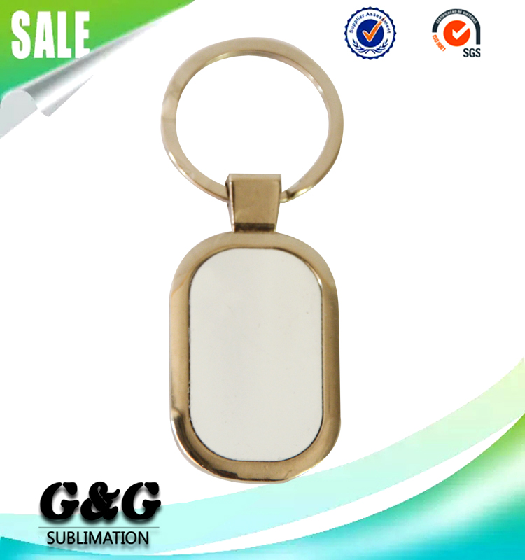 Promotional Personalized Logo Blank Metal Sublimation Keychains