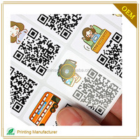 High Quality Product Barcode Sticker Unique QR Code Printing