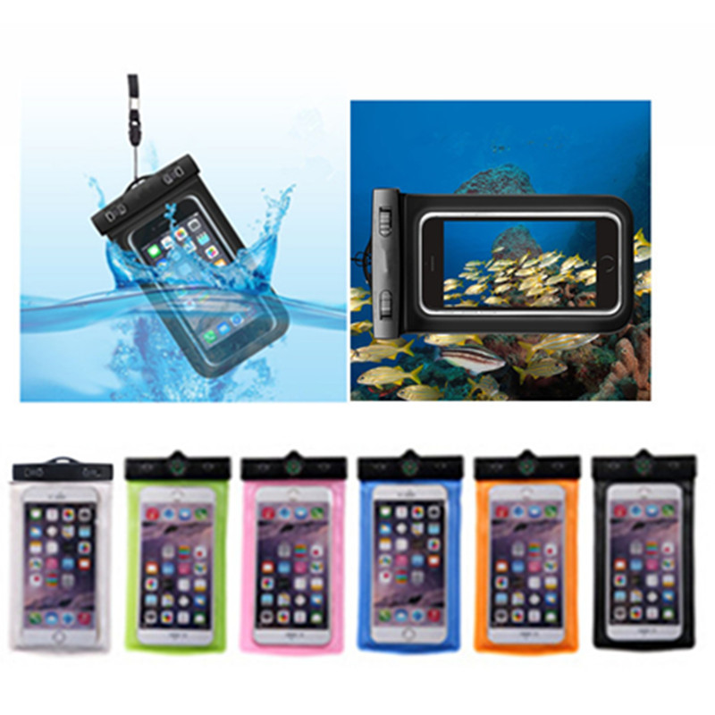 Universal Swimming Waterproof Bag Under Dry Bag Waterproof Phone Case Pouch for iphone 5 5s 6 6s 6plus 7 7plus