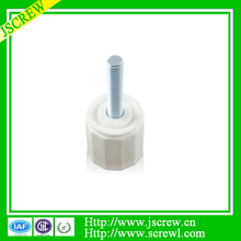 M2 M3 M4 White knurled plastic head thumb screw