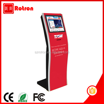 Self service multi touch screen Information access terminal kiosk with receipt printer