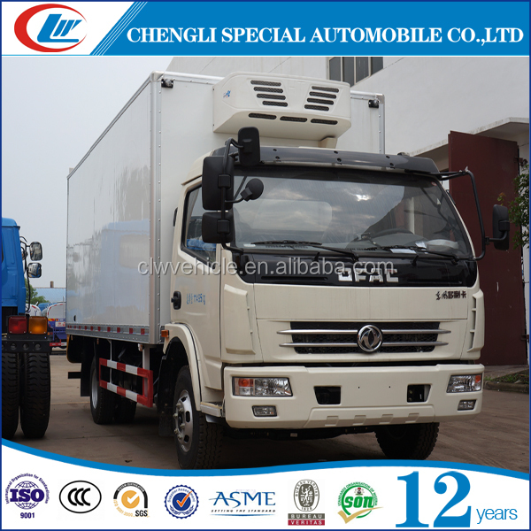 4x2 Freezer truck 5T Refrigerated truck 6T refrigerator cooling van for sale