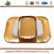 Different shape gold custom printed paper food aluminum foil tray