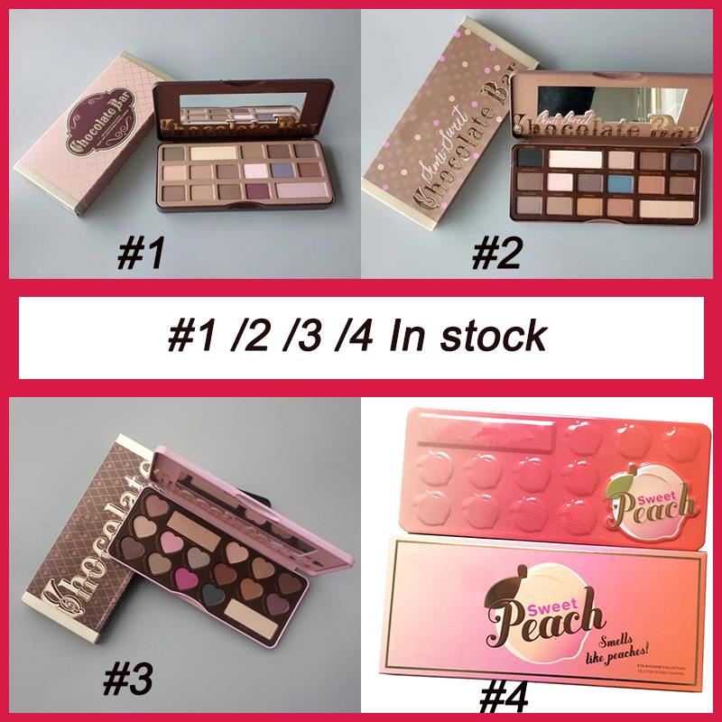 Sweet Peach 16 Colors Makeup Palette Chocolate Eye Shadow Bar Eyeshadow cool eyeshadow