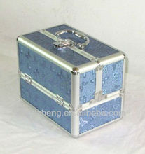Professional Blue Butterfly Beauty Box Makeup Vanity Case