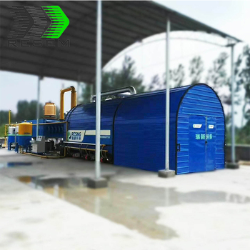 Environmental protection waste plastic energy plant tyre pyrolysis oil