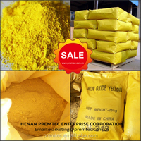 Top quality inorganic iron oxide fe2o3 yellow pigment used for decolorization bitumen pavement