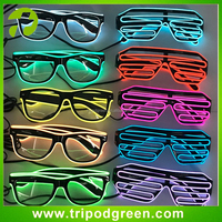 Best quality el/led rave party glasses,light up el glasses manufacturer in China