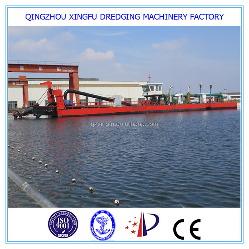 Chinese new hydraulic design dredging equipment/18'' cutter suction river sand dredger for sale