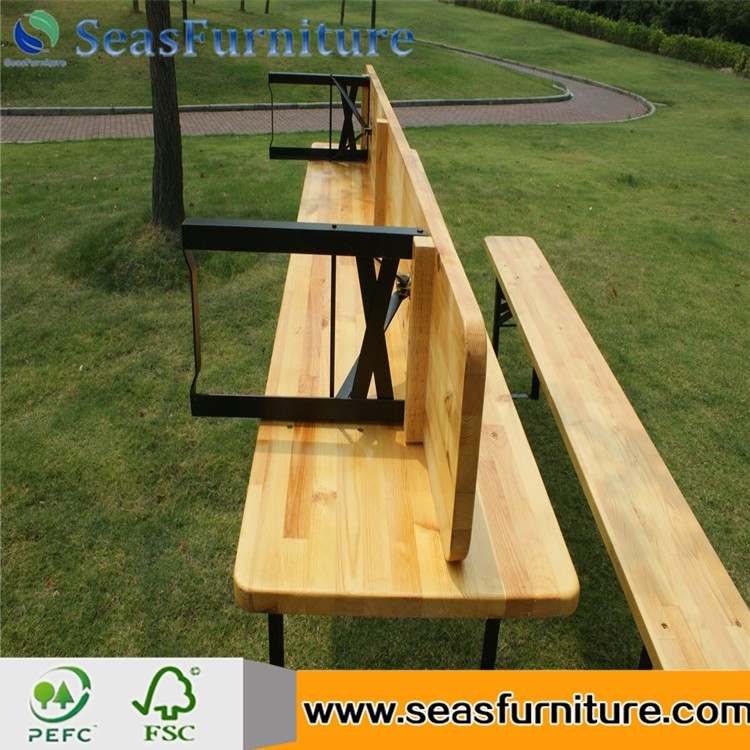 Hot Bierzeltgarnitur pine Beer Table and benches solid wood beer table and benches