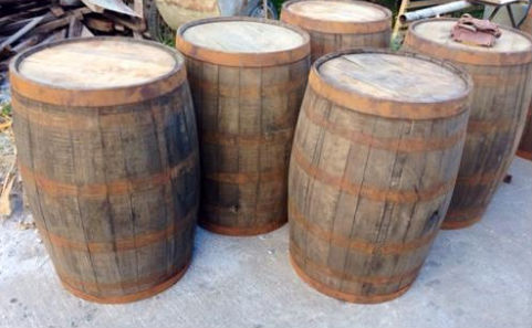 Vintage Oak wooden barrel