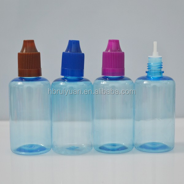 best selling products plastic pet dropper bottle blue color 50ml