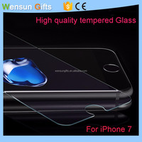 Wholesale 9H Hardness Anti-Scratch Tempered Glass For iPhone 7 Screen Protector free shipping