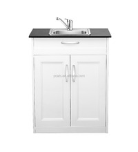 New Style Portable Single Sink Bathroom Vanity Cabinets With Cold And Hot Water