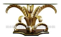 CJ098-3 2012 elegant American style antique solid glass coffee table