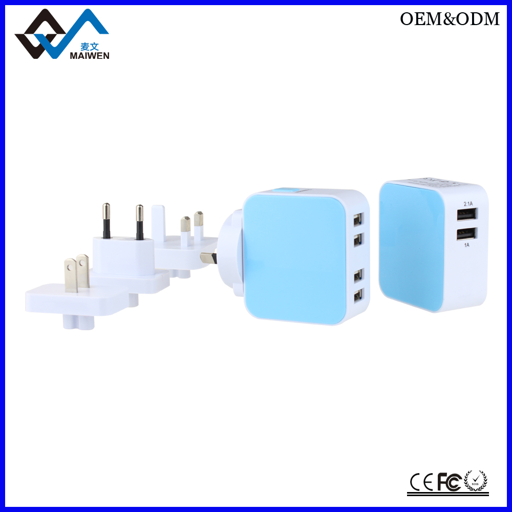 China Suppliers Wholesale 5V 3.1A portable dual usb wall charger for iPhone