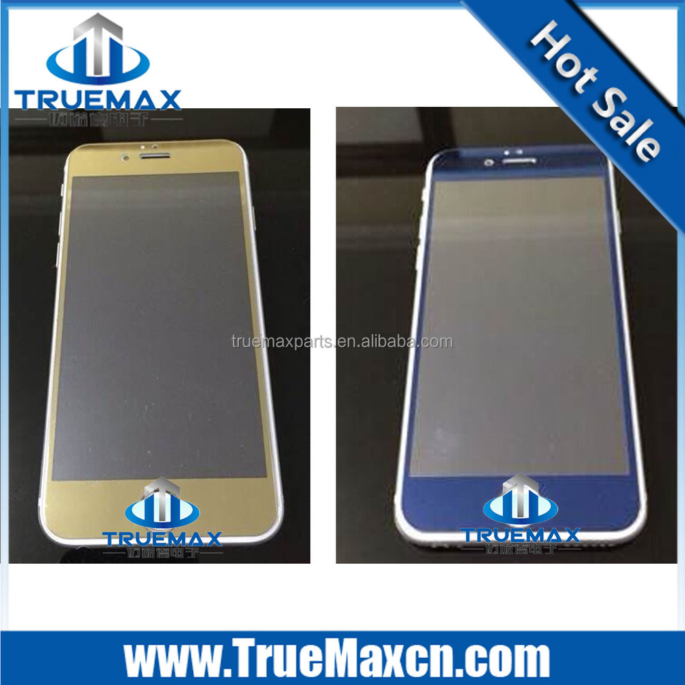 Omnidirectional Cover Glass Screen Protector for iPhone 6, Mirror Gold Tempered Screen Protector for iPhone 6