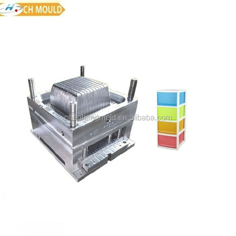 clothes food toys storage box injection shaping plastic drawer mould