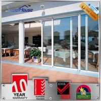 China product anti-noise glass automatic sensor glass sliding door